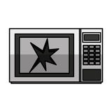 Broken microwave oven icon Royalty Free Stock Photo