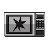 Broken microwave oven icon Vector Illustration