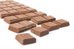 Broken milk chocolate bar Stock Photography