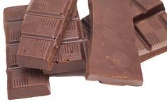 Broken milk chocolate bar Royalty Free Stock Photos