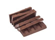 Broken milk chocolate bar Stock Image
