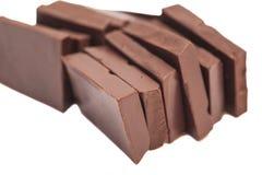 Broken milk chocolate bar Stock Photos