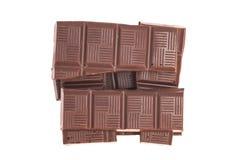Broken milk chocolate bar Royalty Free Stock Images