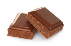 Broken milk chocolate bar Royalty Free Stock Image