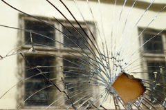 Broken Mirror Stock Image