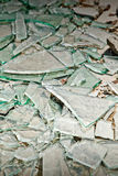 Broken mirror glass shards Stock Image