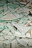 Broken mirror glass shards Stock Image