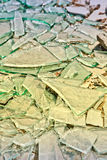 Broken mirror glass shards Stock Photography
