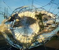 Broken mirror glass Stock Images