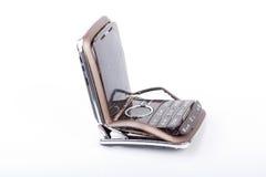 broken mobil telefon Arkivbilder