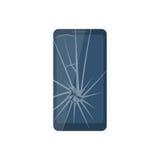 broken mobil telefon royaltyfri illustrationer