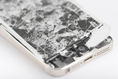 Broken mobile device. Royalty Free Stock Images