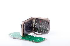 Broken mobile phone Royalty Free Stock Photo