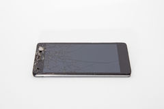 Broken mobile phone. Parts and components stock photography
