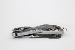 Broken mobile phone. Parts and components royalty free stock photos