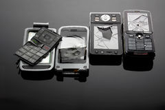 Broken Mobile Phones Stock Images
