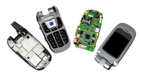 Broken Mobile Phones Royalty Free Stock Images
