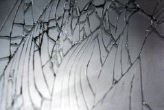 Broken Mobile Screen, extreme Close Up stock images