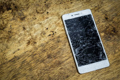 Broken mobile screen. royalty free stock photography