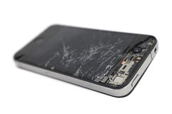 Broken mobile smartphone Stock Images