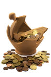 Broken money box Stock Image