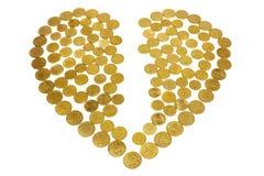 Broken money heart Stock Photos