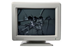 Broken monitor Royalty Free Stock Photo