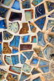 Broken mosaic tile background Royalty Free Stock Photography