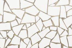 Broken mosaic tiles background Royalty Free Stock Image