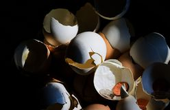Broken Nest Eggs III. A view on personal,commercial,savings and the economy royalty free stock photo
