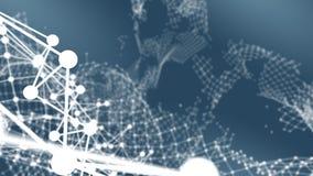 Broken network connection` visualisation. Broken network connection. Technology block chain concept. 3D Rendering royalty free stock image