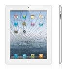 Broken new Apple iPad 3 white version stock photos