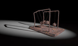 Broken Newton's Cradle Stock Photo