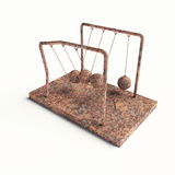 Broken Newton's Cradle Royalty Free Stock Photo