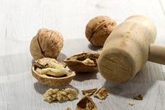 Broken nuts 2 Stock Photos