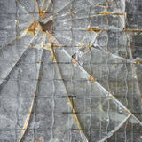 Broken. Obvious damage to a reinforced glass Royalty Free Stock Photos
