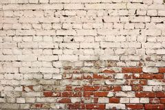 Broken Old Bricklaying From Red White Bricks And Damaged Plaster Royalty Free Stock Photo