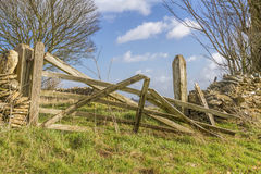 Broken old farm gate Stock Images