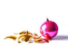 Free Broken Old Vintage Christmas Ball On White Backgroound Stock Photos - 77430063