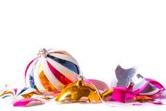 Free Broken Old Vintage Christmas Ball On White Backgroound Stock Photo - 77430100