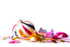 Free Broken Old Vintage Christmas Ball On White Backgroound Royalty Free Stock Image - 77839886