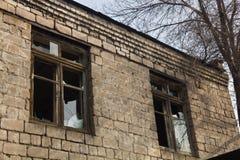 Broken old  window Stock Photos
