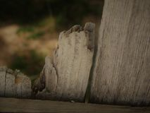 Broken Old Wooden Fence by Field Stock Photos