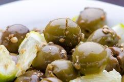 Broken Olives tsakistes Royalty Free Stock Photo