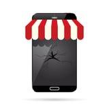 Broken Online Shop Stock Images