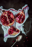 Broken open fresh pomegranate Royalty Free Stock Photography