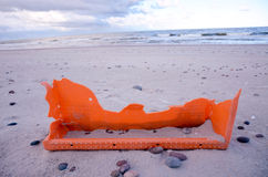 Broken orange objects after storm Royalty Free Stock Photo