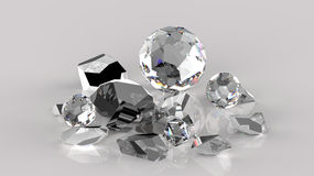 Broken orb crystals Royalty Free Stock Images