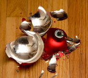 Broken ornament Royalty Free Stock Photos