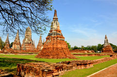 Broken Pagoda in Ayutthaya 2 Stock Photos